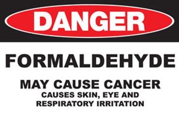 Formaldehyde Danger Sign