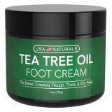 USA Naturals Tea Tree Oil Foot Cream