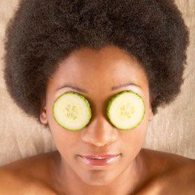 Cucumbers on Eyes