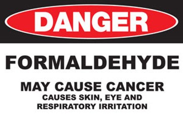Formaldehyde Danger Sign